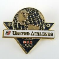 United Airlines Olympic Vintage UAL Tulip Logo Pin