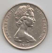 Nueva Zelanda - 20 Centavos-Cobre-Níquel Elizabeth II 1977 – 11.31 G – Ø 28.58 mm