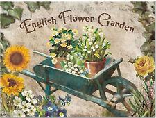 Nostalgic Art Magnet English Flower Garden Englischer Blumen Garten Schubkarre