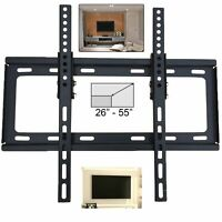 UK 26-55 Inches Slim Tilt Adjustable Wall Mount TV Bracket PLASMA LCD For 3D LED