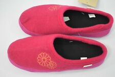 ACORN PLUSH  EMBROIDERY HOODBACK slippers  NEW WITH TAG