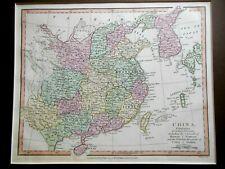 J ROPER Map of CHINA (1809) Corea (Korea), Formosa (Taiwan) Hand Coloured - RARE