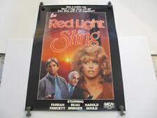 FARRAH FAWCETT Red Light Sting promo poster 1984 rare 18x24 inches Beau Bridges