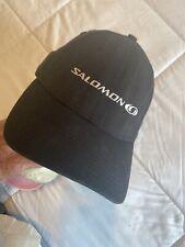 Salomon New Era Black Stretch M/L Size Baseball Cap Hat Great Used Condition