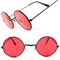 Red Lens Classic Vintage Retro 70s Mens Womens Hippie Lennon Round Sun Glasses