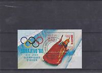 LAOS 1983 JEUX OLYMPIQUE SARAJEVO BOBSLEIGH BLOC FEUILLET OBLITERE YT BF 75
