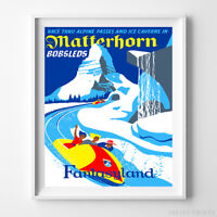 0225 Disneyland Matterhorn Ride Plan Blueprint