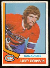 1974-75 OPC O PEE CHEE HOCKEY #280 LARRY ROBINSON VG-EX MONTREAL CANADIENS Card