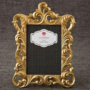 Gold Baroque 5x7 Photo Frame Table Number Holder Wedding Decor MW70005