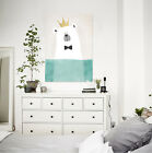 3D White bear 534 Wall Stickers Vinyl Murals Wall Print Decal Art AJ STORE AU