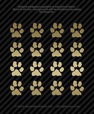 Paw Print Decals Vinyl Window Tablet Dog Cat Pet Rescue 1 in - (16)
