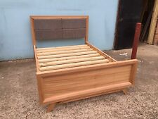 Local Made Tassie Oak Hardwood Timber New Retro Queen Bed