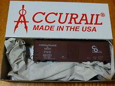 Accurail HO #3543 AAR 40' Single-Door Steel Boxcar Kit Chesapeake & Ohio