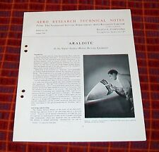 ARALDITE IN THE NAPIER SURFACE HEATER DE-ICING EQUIPMENT TECHNICAL NOTES 1954