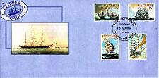1984 Clipper Ships Fdc - Cloverdale Wa 6105 Pmk