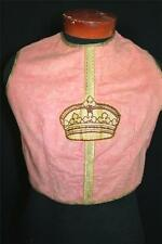 Rare Antique French Late 19Th-Early 20Th Pink Cotton Priest'S Vestment Sz Med