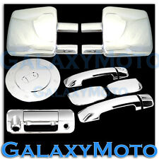 07-13 TOYOTA TUNDRA Towing Mirror+Chrome 4 Door Handle+Tailgate Camera+Gas Cover