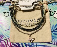 NWT PURA VIDA BUTTERFLY CHARM AND BEADED  BRACELET SET ~ SEE  DESC