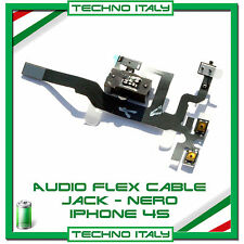 Per IPHONE 4S CAVO FLAT FLEX CONNETTORE JACK AUDIO TASTO VOLUME MUTE NERO