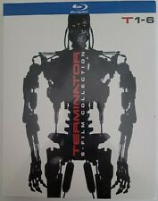 NEW TERMINATOR: 6-FILM COLLECTION BLU RAY 6 DISC SET WITH SLIPBOX FREE SHIPPING