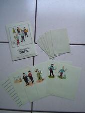 TINTIN  /   POCHETTE DE PAPIER A LETTRE  LE CHEQUE TINTIN / COMPLET / ANNEES 60