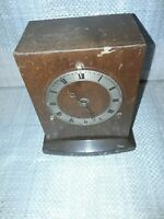 Vintage and collectable Wooden Clock in a wooden case for restoration