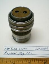 1  AN3106A-24-9S Military Connector w/Backshell  AMPHENOL Lot 82,Made in  USA