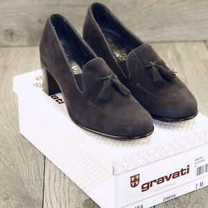 * NIB * $525 GRAVATI Neiman Marcus Women's 7 M * new Cedar Trees Box Shoe Bag