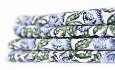 Hand Block Printed Fabric Indian 100% Cotton Natural Vegetable Color 5 Yards