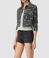 Allsaints Fraise Suede Leather Jacket size UK 6/US 2 $540