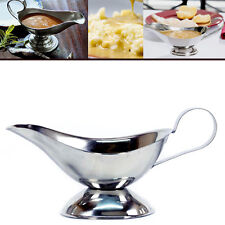 Evokk Gravy Sauce Server Vintage Style Boat Stainless-Steel Large Classic Spoon