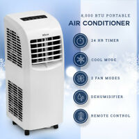 8,000 BTU Portable Air Conditioner Cooling A/C Cool Fan indoor w/ Remote, White