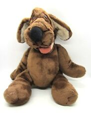 Ganz Wrinkles Hound Dog Plush Puppet Dark Brown 17in Neck Tags 1980s Vintage