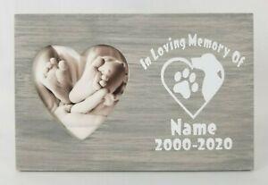 Personalized In Loving Memory Pet Memorial Sentiment Frame, Custom Picture Frame
