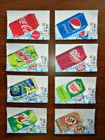"(8) SODA VENDING MACHINE 12oz ""CAN""  Vend Labels (Flavor Strip) - VARIETY PACK"