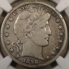 1898-O Barber Half Dollar NGC VF20