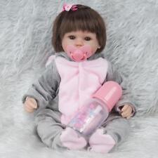 45cm Reborn doll poupée Reborn réaliste bébé fille avec chiffon d'éléphant