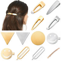 Ladies Hair Clips Metal Hair Slide Barrettes Grips Hairpin Hair Pin Accessories