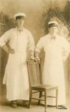 C-1910 Men Grocery Uniforms Occupation Interior RPPC real photo postcard 9353