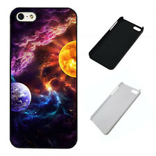 Fantasy Earth and Sun Universe plastic phone case Fits iPhone