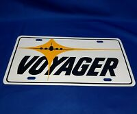Vintage Voyager Aircraft Airplane Metal Advertising License Plate Wall Art
