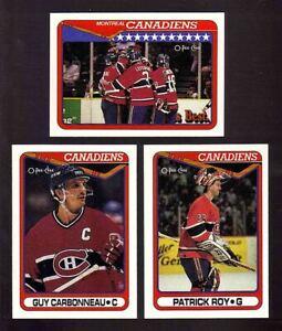 1990-91 OPC Montreal Canadiens Team SET x25 Patrick Roy Eric Desjardins RC