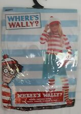 Smiffys WHERES WALLY? Girls fancy dress Age 10-12 top,skirt,tights,glasses,hat
