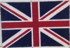 "Union Jack Vinyl Backed Coir Door Mat-.(40cm x 60cm  x 15cm  )16"" x 24"" x 0.6"""