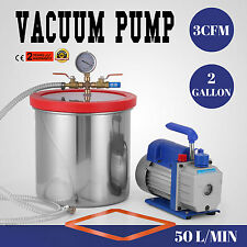 2 Gallon Chamber Kit with 3CFM Vacuum Pump Local Refrigerant Deep