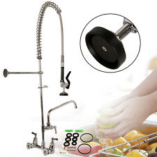 "Commercial Dishwasher Pre-Rinse Faucet w/ 12"" Add-On Faucet Kitchen Restaurant"