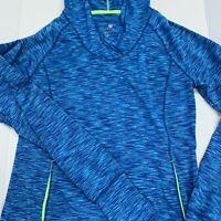 Womens Quarter Zip Shirt Active Wear Blue Small long sleeve Tangerine brand slim