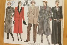 Vogue Sewing Pattern 1220 vintage Ladies Misses Coat Size 10 cut complete
