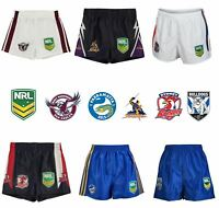 NRL Supporter Shorts Juniors Rugby League Storm Bulldog Sea Eagles Eels Roosters