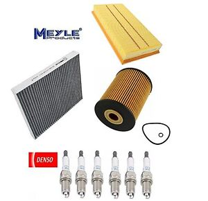 Tune Up Kit Spark Plugs Engine Oil Cabin Air Filters for Audi Q7 V6 2007-2008